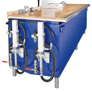 Bordplade og tilbehør til firkantede smøreolietanke